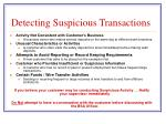 detecting suspicious transactions