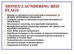money laundering red flags