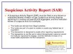 suspicious activity report sar