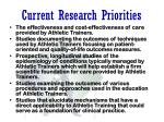 current research priorities