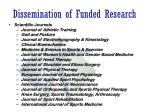 dissemination of funded research1