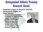 distinguished athletic training research award