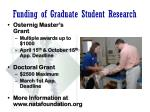 funding of graduate student research