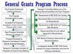 general grants program process