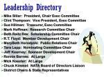 leadership directory