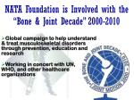 nata foundation is involved with the bone joint decade 2000 2010