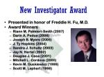 new investigator award
