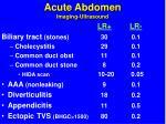 acute abdomen imaging ultrasound