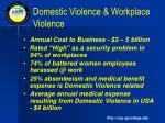 domestic violence workplace violence