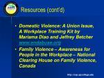 resources cont d1