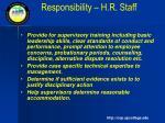 responsibility h r staff