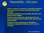 responsibility lea liason