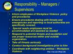 responsibility managers supervisors