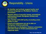 responsibility unions