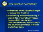 term definition vulnerability