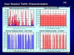 user session traffic characterization