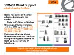 bcm450 client support industry leading portfolio