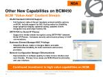 other new capabilities on bcm450