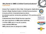 why nortel in smb unified communications proof points