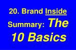 20 brand inside summary the 10 basics