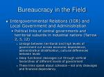 bureaucracy in the field28