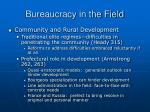 bureaucracy in the field31