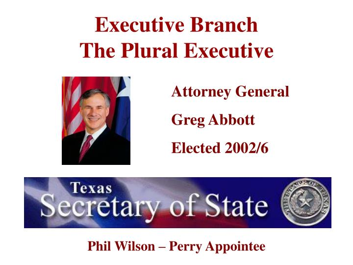 executive branch the plural executive n.