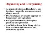 organizing and reorganizing