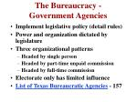 the bureaucracy government agencies