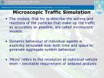 microscopic traffic simulation