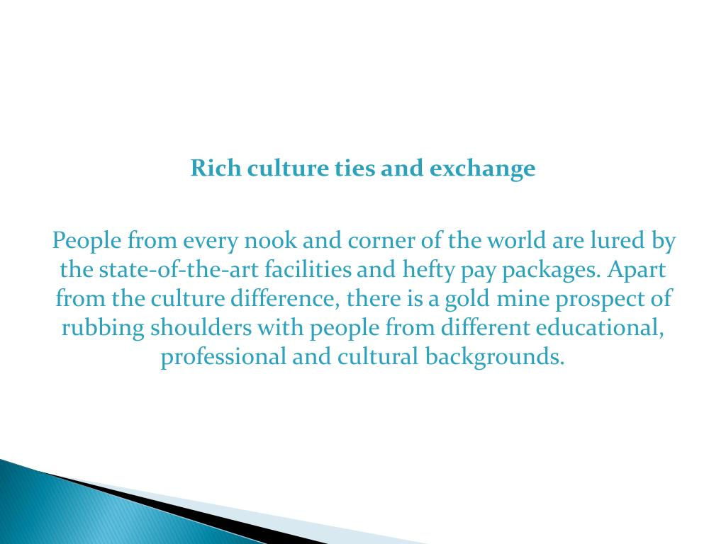 Rich culture ties and exchange