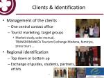 clients identification
