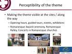 perceptibility of the theme