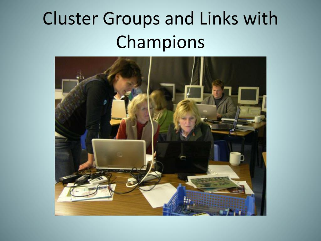 Cluster Groups and Links with Champions