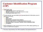 customer identification program cip