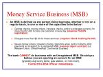 money service business msb