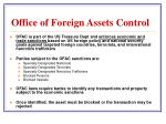 office of foreign assets control