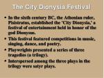 the city dionysia festival