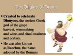 the origins of drama