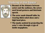 working in the space