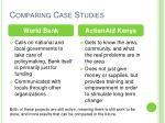 comparing case studies