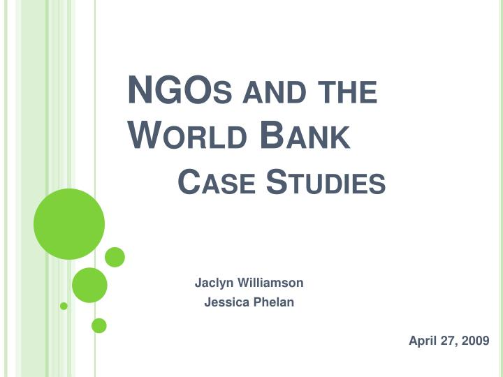 ngos and the world bank case studies n.