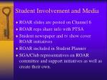 student involvement and media