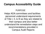 campus accessibility guide