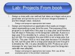lab projects from book