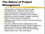 the nature of project management