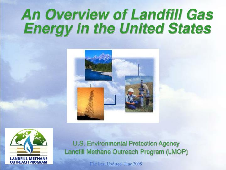 an overview of landfill gas energy in the united states n.