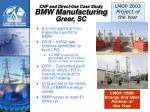 chp and direct use case study bmw manufacturing greer sc