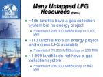 many untapped lfg resources cont