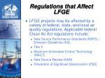 regulations that affect lfge
